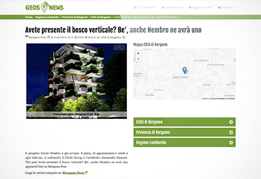 Tower Nembro su Geos News